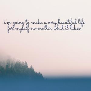 apologizing, beautiful life